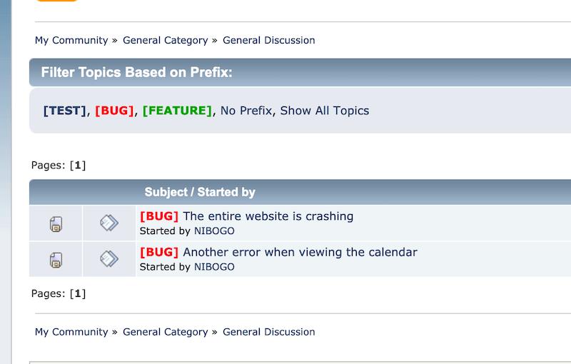 Filter topics by prefix