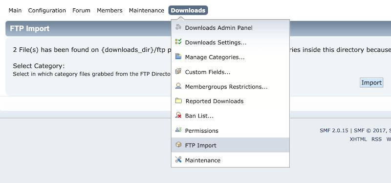 FTP Upload