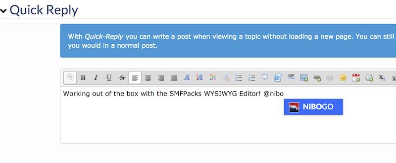 SMFPacks Advanced Editor Compatible
