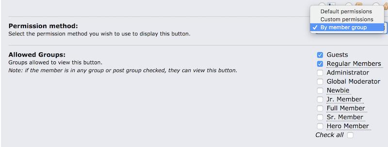 Button Permissions
