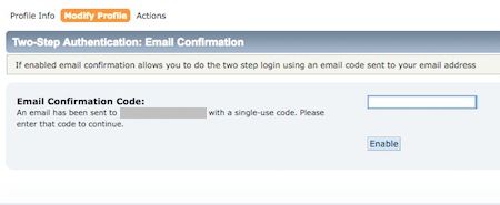 2fa email codes