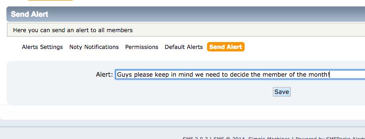 Send Alerts