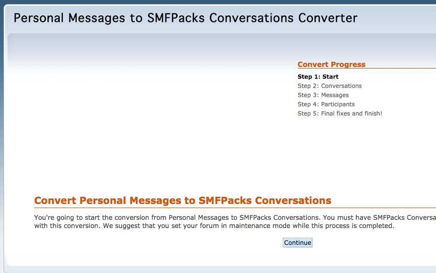 Convert personal messages