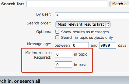 Search by likes