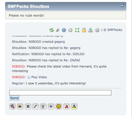 Responsive Shoutbox