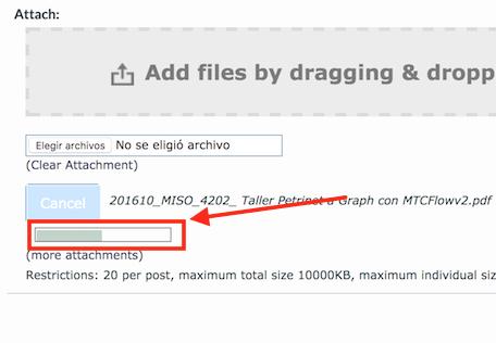Uploader progress bar