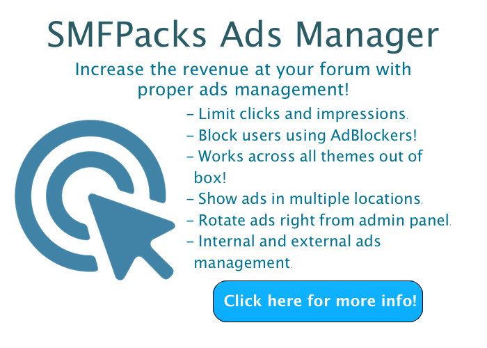 SMFPacks Ads Manager!